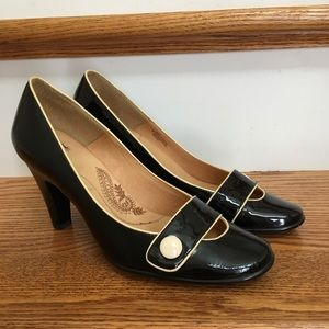 ~~SOFFT Black Patent Leather Heels~~Pinup Gals
